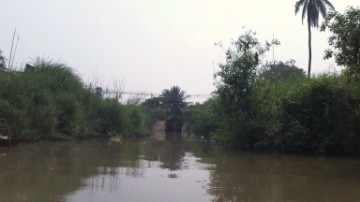 Origin of the Maha Phram Canal north of Bang Ban at Hua Saphan