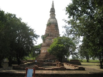 Chedi and vihara from the east