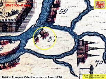Detail of Fran�ois Valentyn's map published in 1724