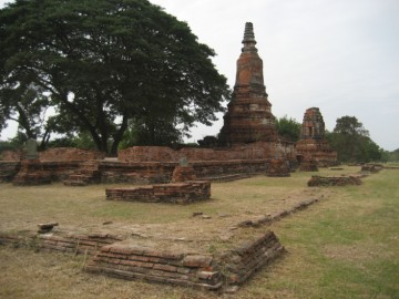 View of vihara and ubosot from the east