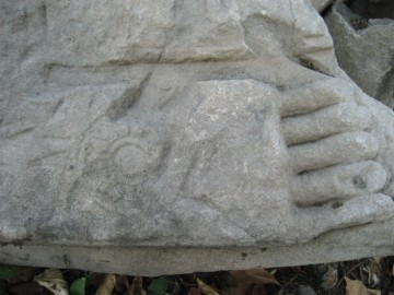 Fragment of a Buddha statue