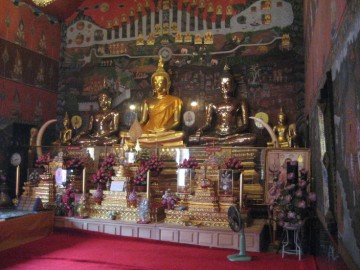 Old Buddha images in the ubosot