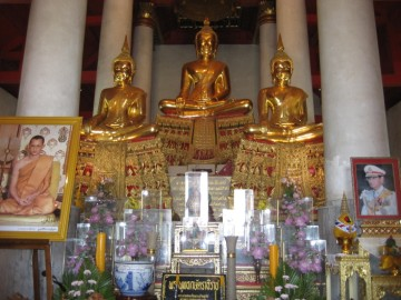 Buddha images at the temple