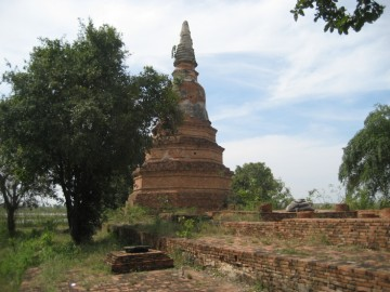 Chedi of Wat Phra Ngam and remains of the ubosot