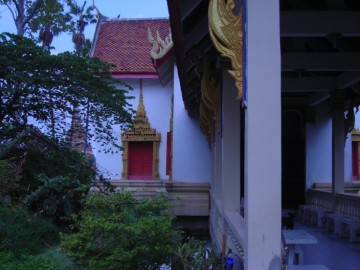 View of a monastic structure at Wat Pradu Songtham