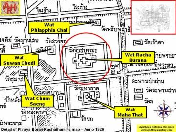 History of Ayutthaya - Temples & Ruins - Wat Racha Burana