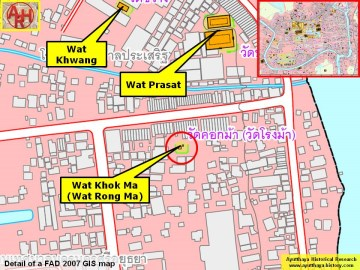Detail of a 2007 Fine Arts Department GIS map