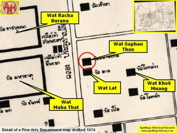 Detail of a 1974 Fine Arts Department map