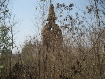 View of the pierced chedi