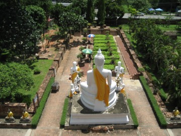 View on the remains of the vihara